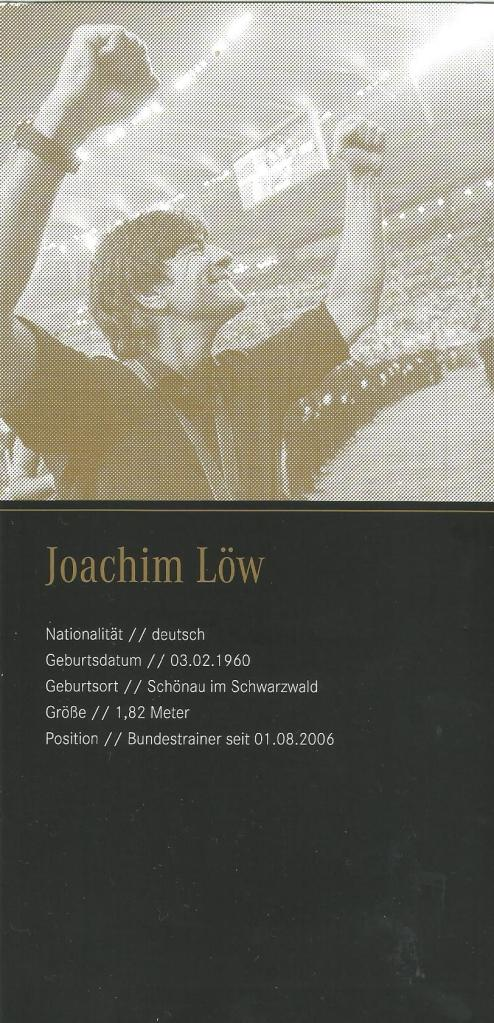 Joachim Löw – signed Mercedes Benz card 2