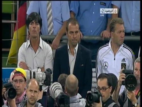 Joachim Löw & Hansi Flick – Germany v Austria 2011 1