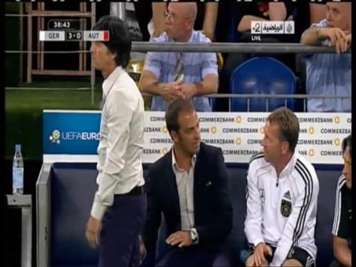 Joachim Löw & Hansi Flick – Germany v Austria 2011 10