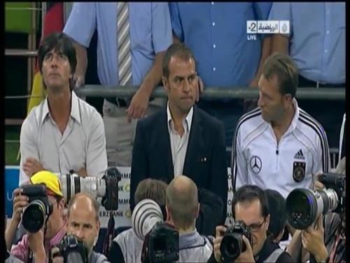 Joachim Löw & Hansi Flick – Germany v Austria 2011 2