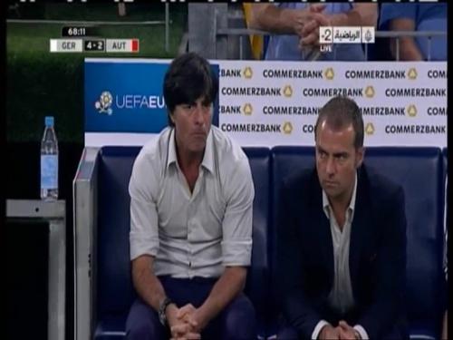 Joachim Löw & Hansi Flick – Germany v Austria 2011 20
