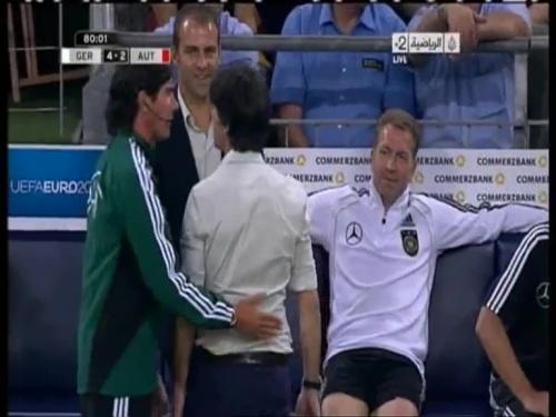 Joachim Löw & Hansi Flick – Germany v Austria 2011 22