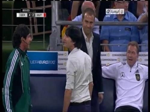 Joachim Löw & Hansi Flick – Germany v Austria 2011 24