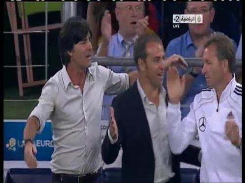 Joachim Löw & Hansi Flick – Germany v Austria 2011 32