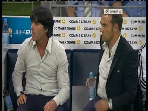 Joachim Löw & Hansi Flick – Germany v Austria 2011 5