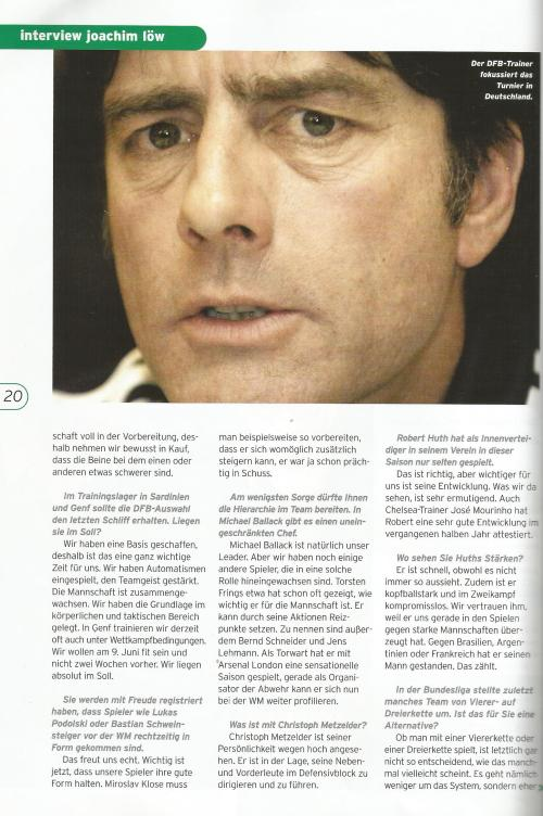 Joachim Löw interview – Germany v Luxembourg program 2006 2