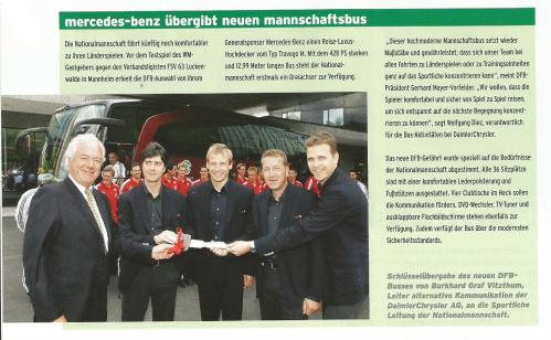 Joachim Löw & Jürgen Klinsmann team bus picture – Germany v Lux