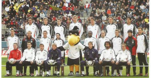 Joachim Löw & Jürgen Klinsmann team mascot picture – Germany v Luxembourg 2006 program