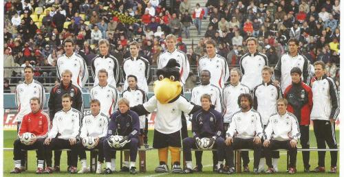 Joachim Löw & Jürgen Klinsmann team mascot picture – Germany v Luxembourg 2006 program