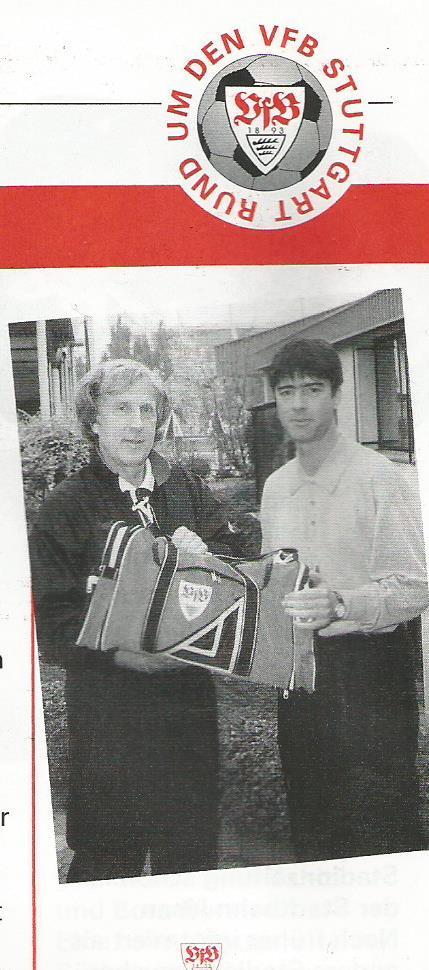 Joachim Löw picture – Stuttgart v Dortmund 1996-97 program