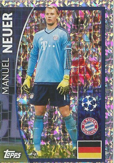 Manuel Neuer - shiny Bayern CL 15-16 sticker