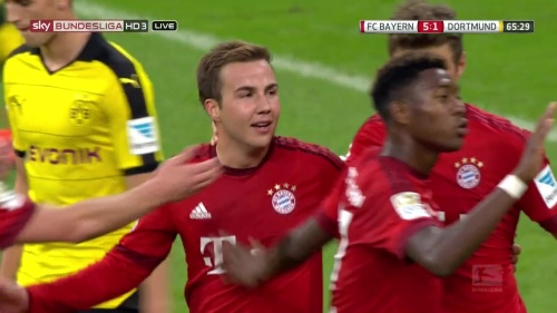 Mario Götze - Bayern v Dortmund 7