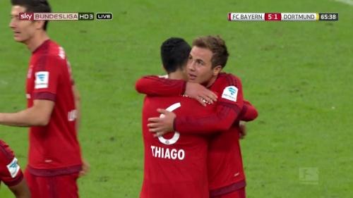 Mario Götze - Bayern v Dortmund 8