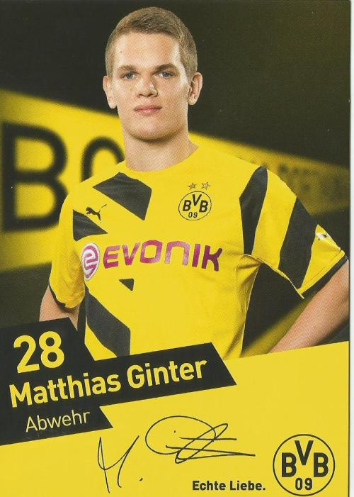 Matthias Ginter - Borussia Dortmund card