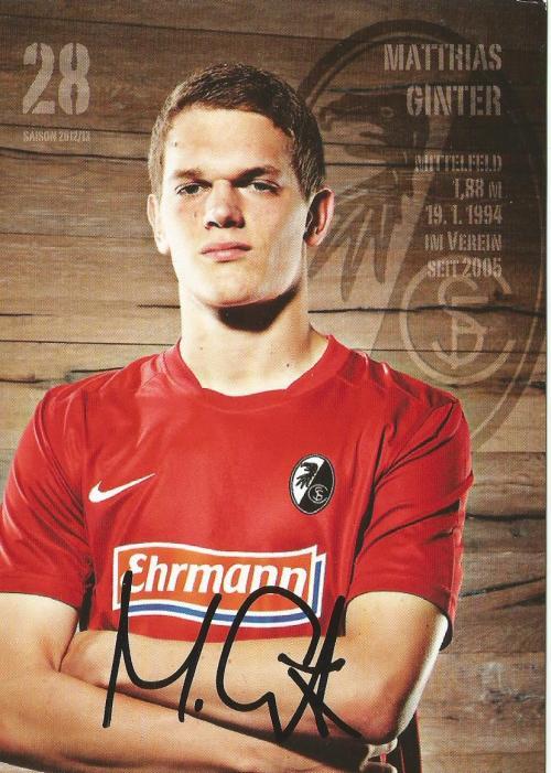 Matthias Ginter - SC Freiburg 2012-13 signed card