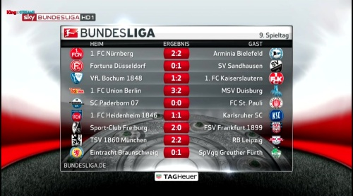 MD9 - 2.Bundesliga results
