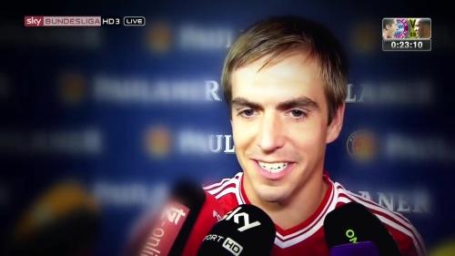 Philipp Lahm - Bayern v Dortmund pre-match show 1