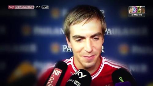 Philipp Lahm - Bayern v Dortmund pre-match show 2