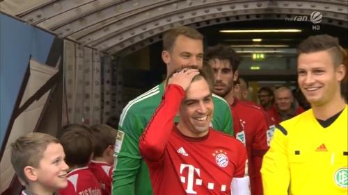 Philipp Lahm & Manuel Neuer – KSC v Bayern friendly 4