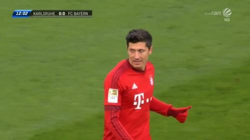 Robert Lewandowski – KSC v Bayern friendly 2