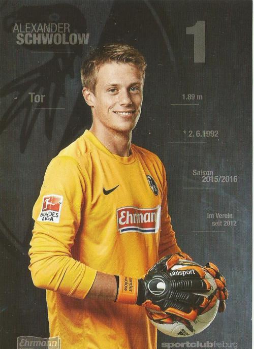 Alexander Schwolow - SC Freiburg 2015-16 card