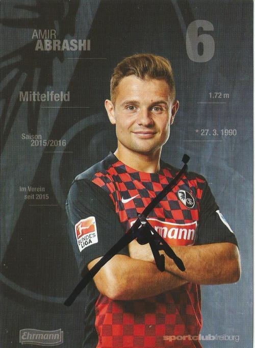 Amir Abrashi - SC Freiburg 2015-16 card