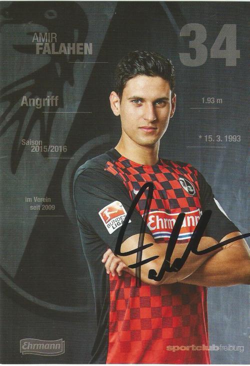Amir Falahen - SC Freiburg 2015-16 card