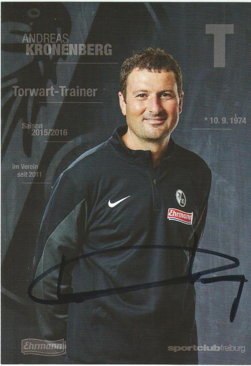 Andreas Kronenberg - SC Freiburg 2015-16 card