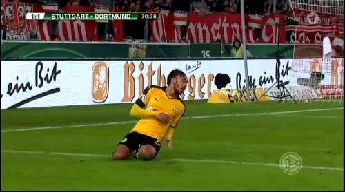 Aubameyang - Stuttgart v Dortmund - DFB Pokal 1