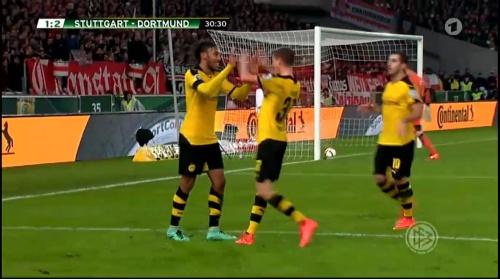 Aubameyang - Stuttgart v Dortmund - DFB Pokal 2
