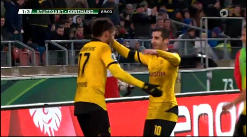 Aubameyang - Stuttgart v Dortmund - DFB Pokal 3