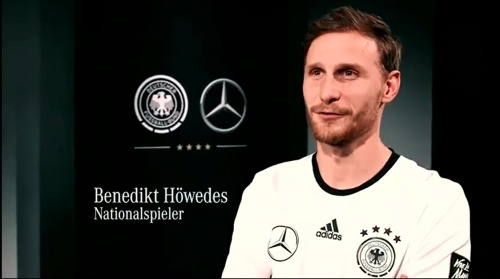 Benedkit Höwedes - making of Mercedes ad 1