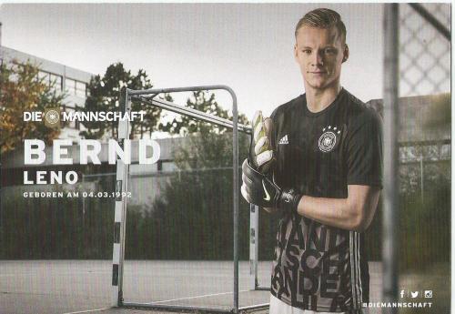 Bernd Leno – die Mannschaft 2016 card 2