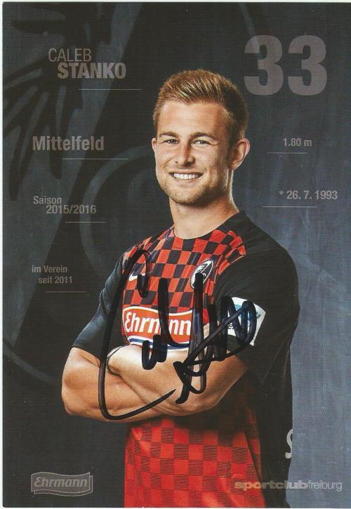 Caleb Stanko - SC Freiburg 2015-16 card