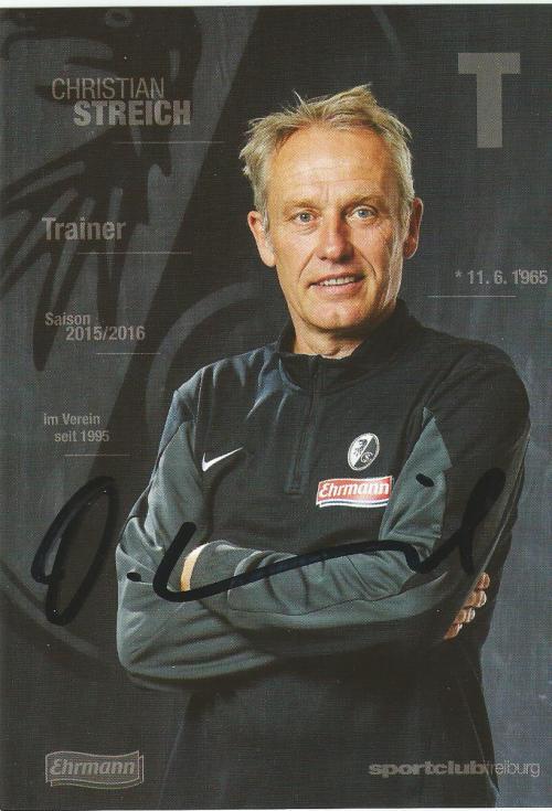 Christian Streich - SC Freiburg 2015-16 card