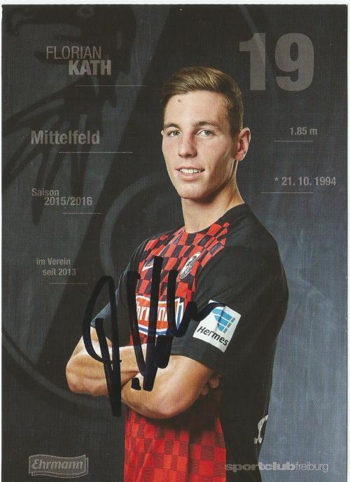 Florian Kath - SC Freiburg 2015-16 card