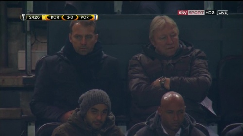 Hansi Flick at Dortmund v Porto - Europa League 2015-16 2