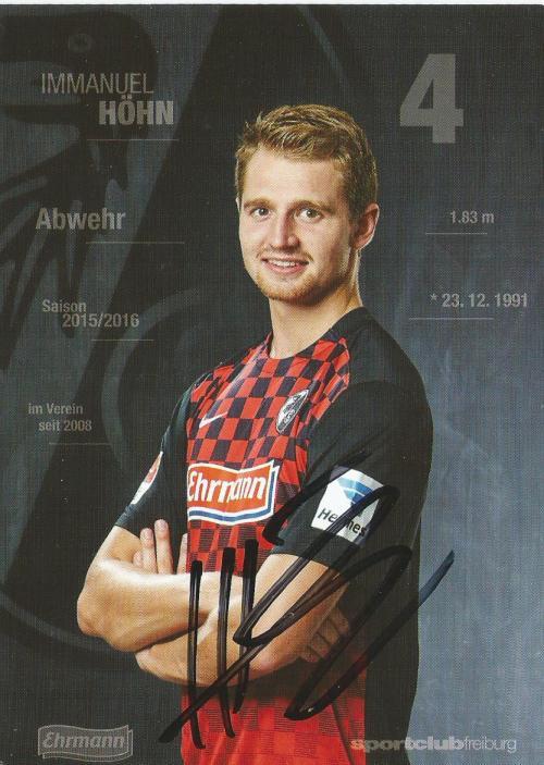 Immanuel Höhn - SC Freiburg 2015-16 card