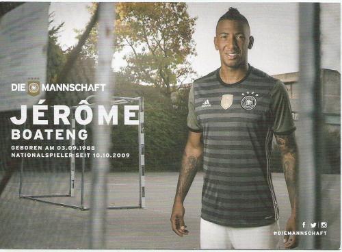 Jerome Boateng – die Mannschaft 2016 card 2