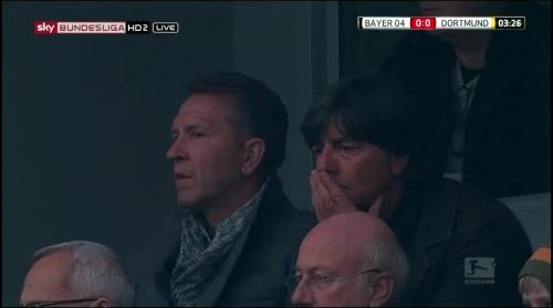 Joachim Löw at Bayer 04 Leverkusen v Borussia Dortmund 2015-16 1