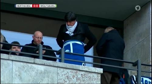 Joachim Löw at Hertha BSC v VfL Wolfsburg 2015-16 2