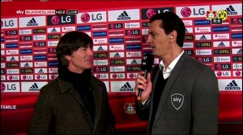 Joachim Löw - Leverkusen v Dortmund half-time interview 1