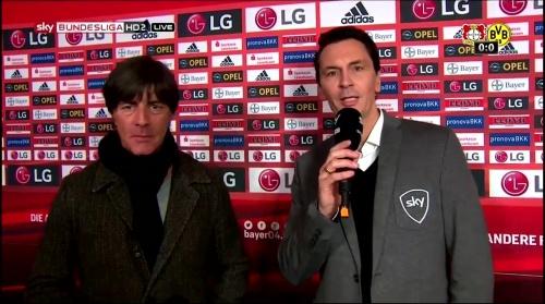 Joachim Löw - Leverkusen v Dortmund half-time interview 10