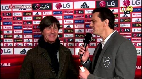 Joachim Löw - Leverkusen v Dortmund half-time interview 3