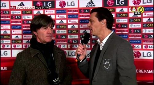 Joachim Löw - Leverkusen v Dortmund half-time interview 5