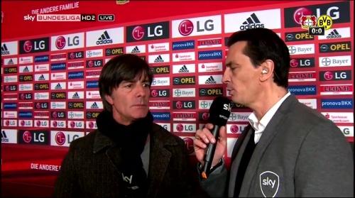 Joachim Löw - Leverkusen v Dortmund half-time interview 6