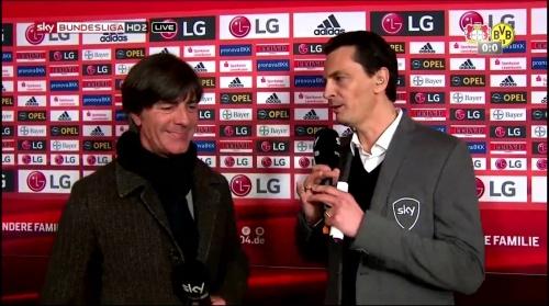 Joachim Löw - Leverkusen v Dortmund half-time interview 7
