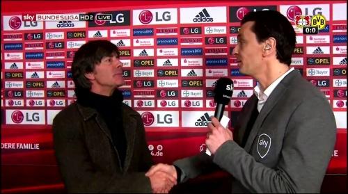 Joachim Löw - Leverkusen v Dortmund half-time interview 8