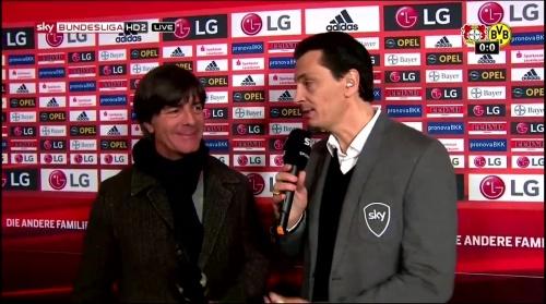 Joachim Löw - Leverkusen v Dortmund half-time interview 9