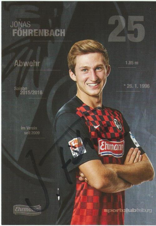 Jonas Föhrenbach - SC Freiburg 2015-16 card